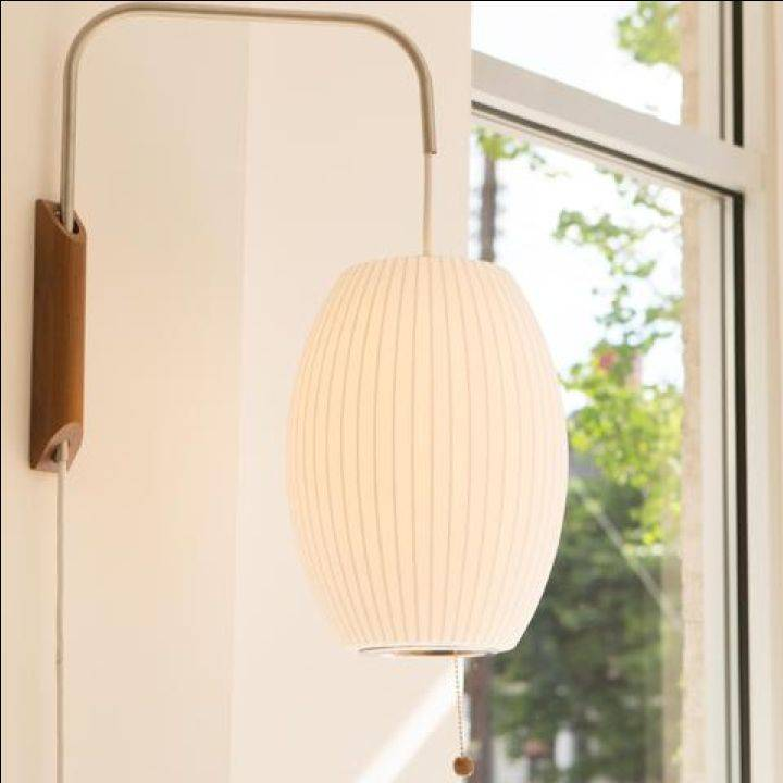 Herman Miller George Nelson Small Cigar Bubble Lamp, Wall Sconce Gallery