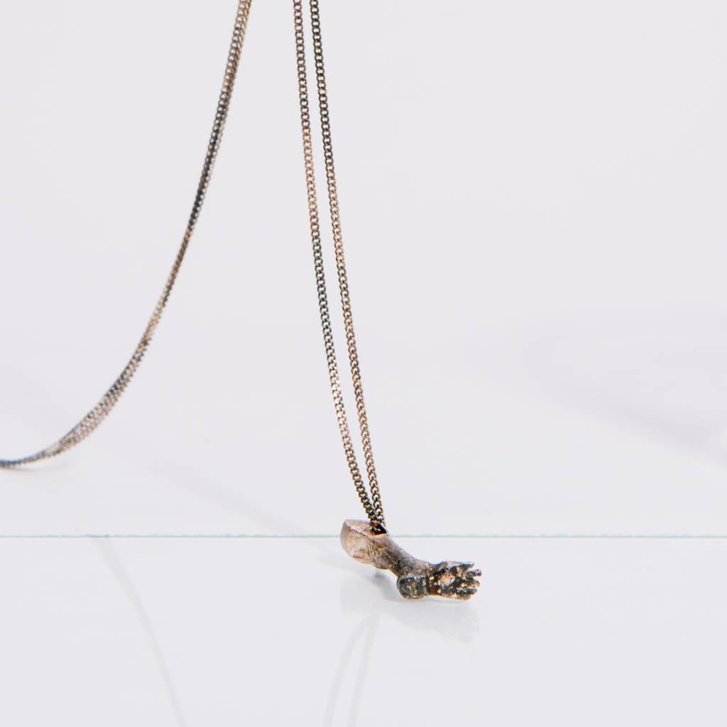 Alice Waese Silver Foot Pendant