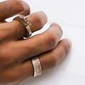 Alice Waese Silver Stitch Ring, Size 9