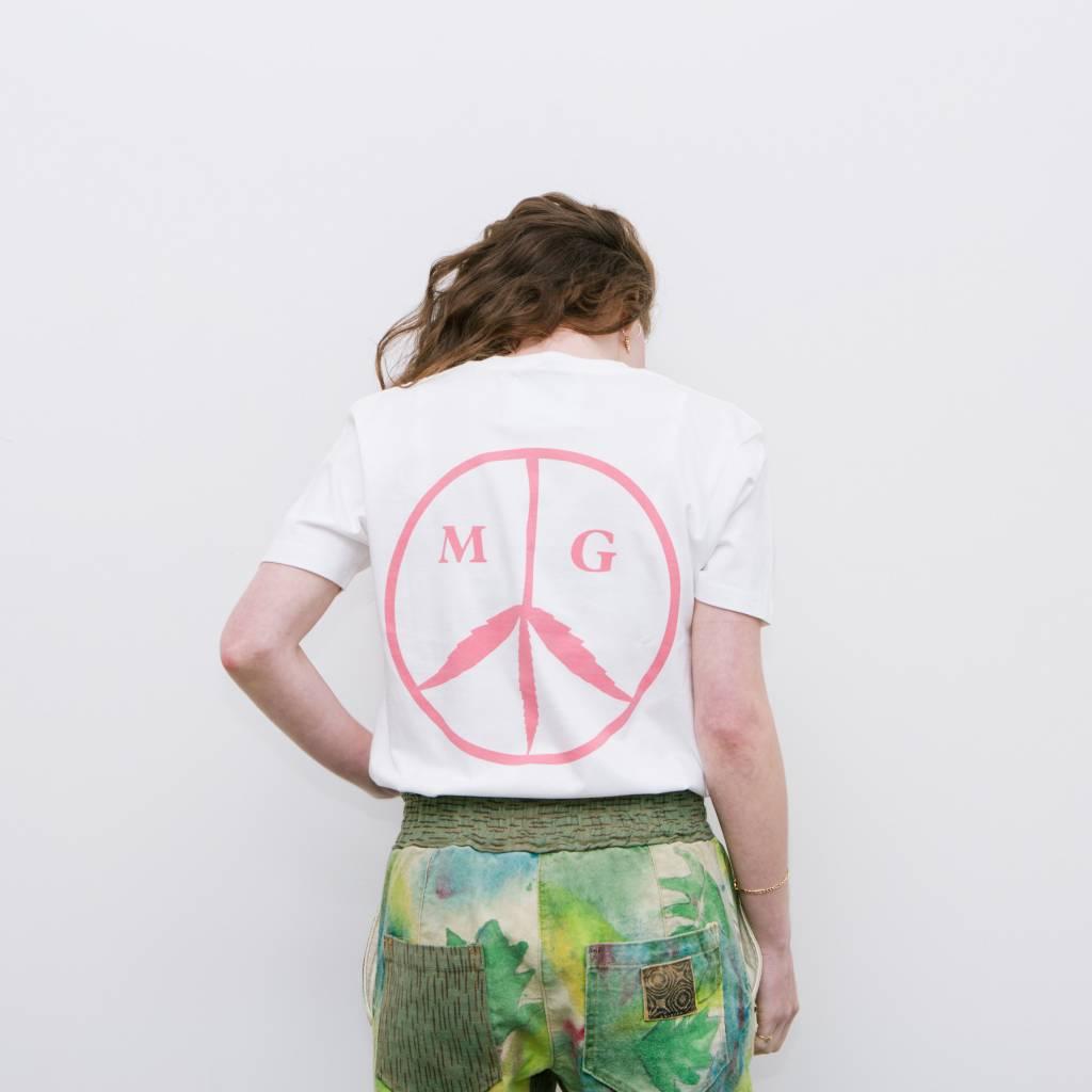 Mister Green Peace Logo Shirt White