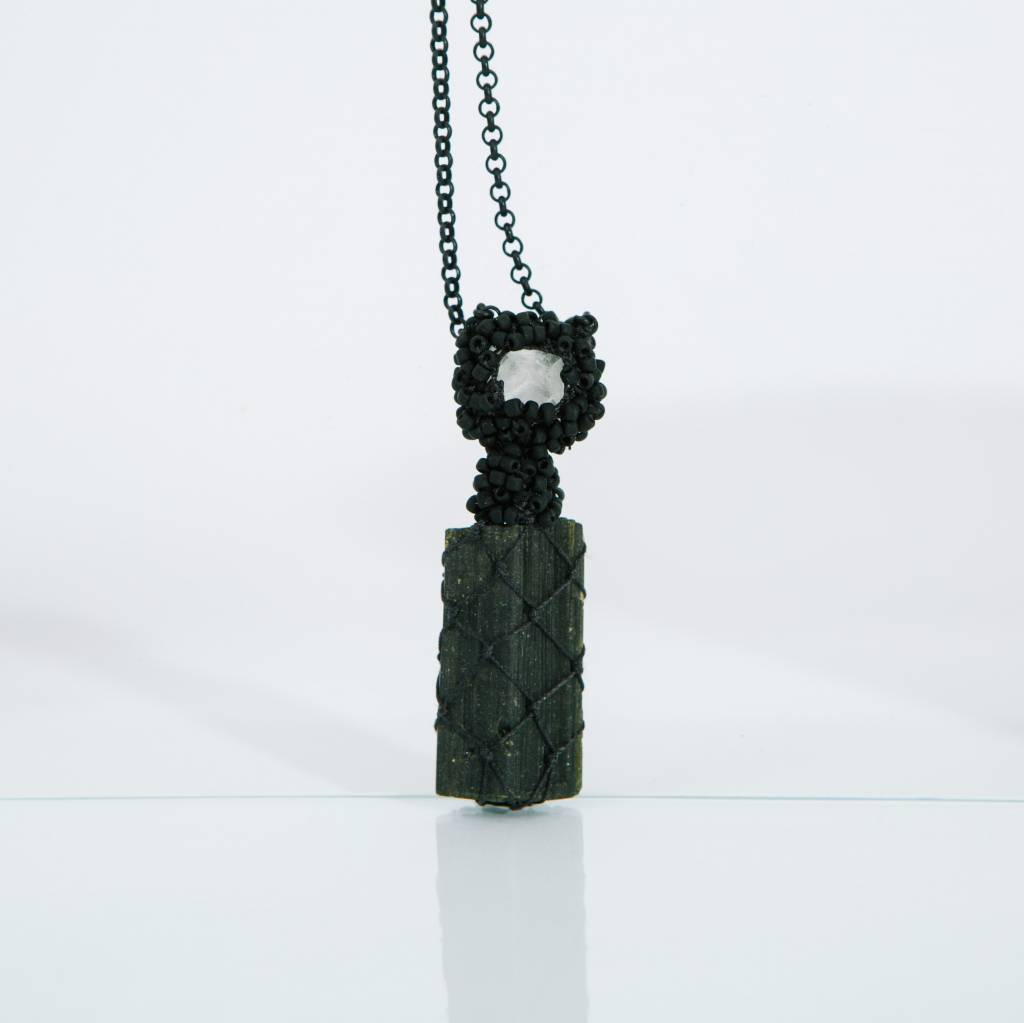 Jacki Holland Florite and Epidote Necklace