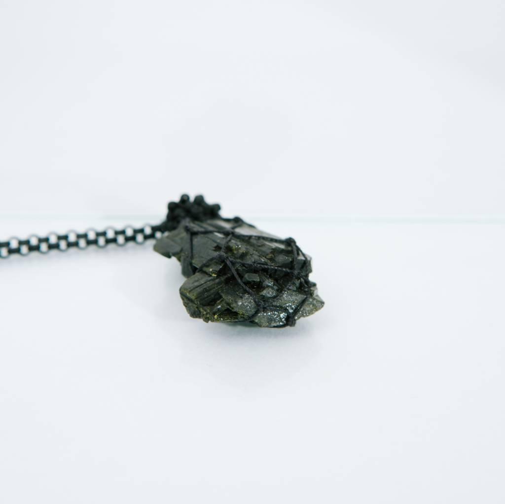 Jacki Holland Green Epidote Necklace