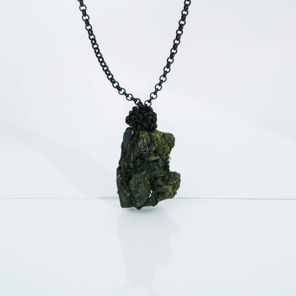 Jacki Holland Green Epidote Necklace