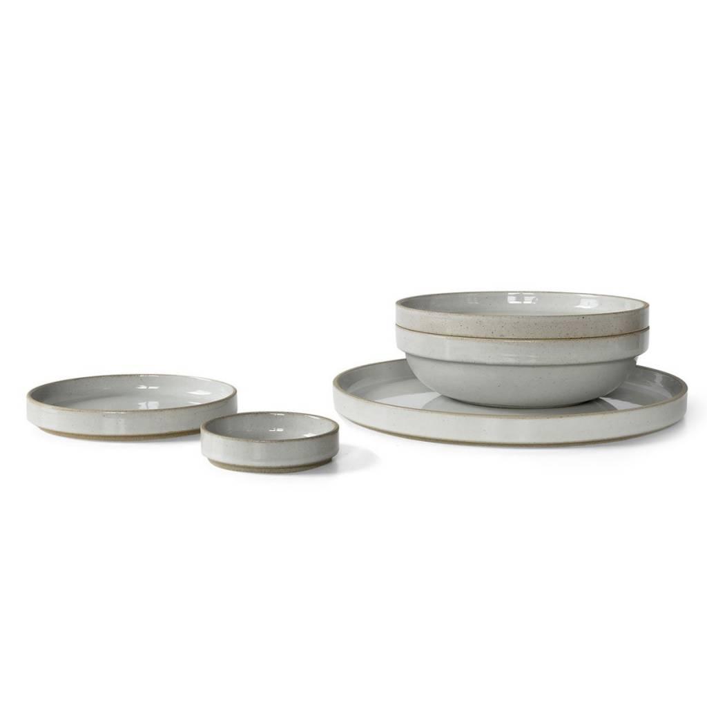 Hasami Porcelain Hasami Porcelain Gloss Gray Plate