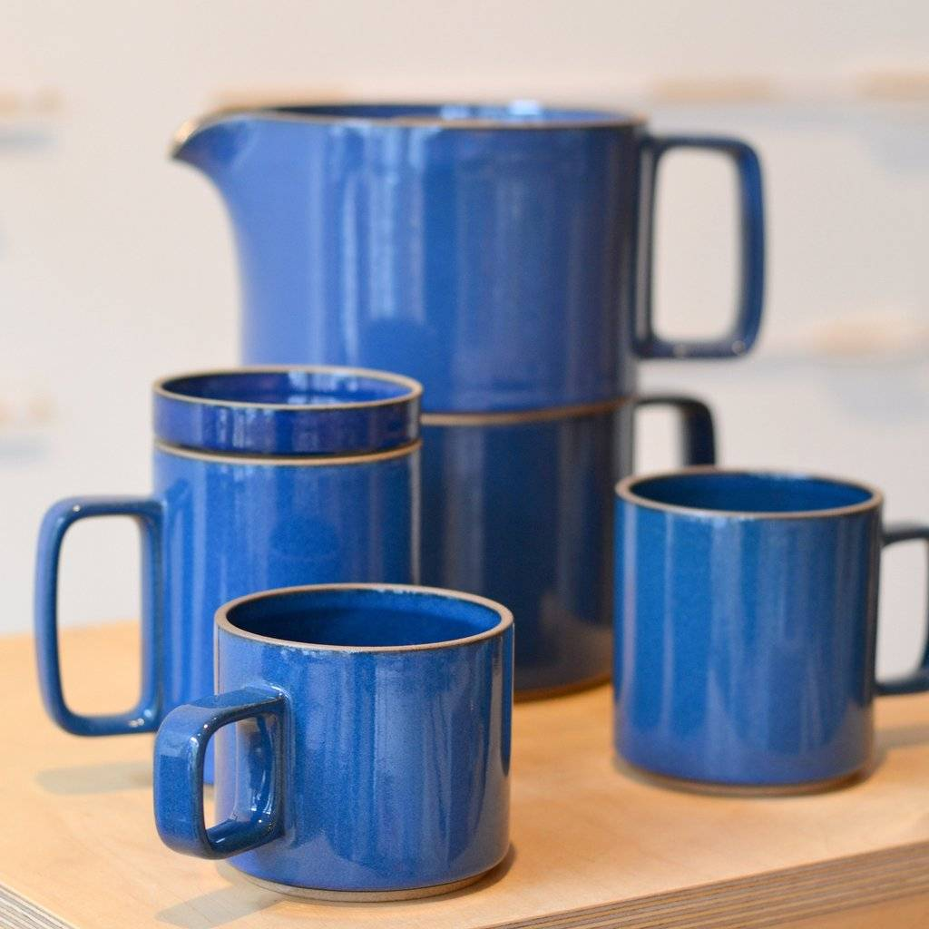 "Hasami Porcelain Hasami Porcelain Plate Gloss Blue 3 1/3"""