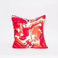 "electra eggleston Havana Roja 22"" Pillow with Red Twill Piping"