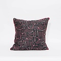 """electra eggleston Cairo Pink Granite 22"""" Pillow with Pink Twill Piping"""