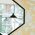 "Alex Drew & No One ""Hex"" Mirror- Ebonized ash with 23K gold gilded edge detail with recessed mirror back"