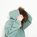 Maria Brinch Inside Out Hoodie - Green LARGE