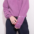 Maria Brinch Inside Out Hoodie - Purple SMALL