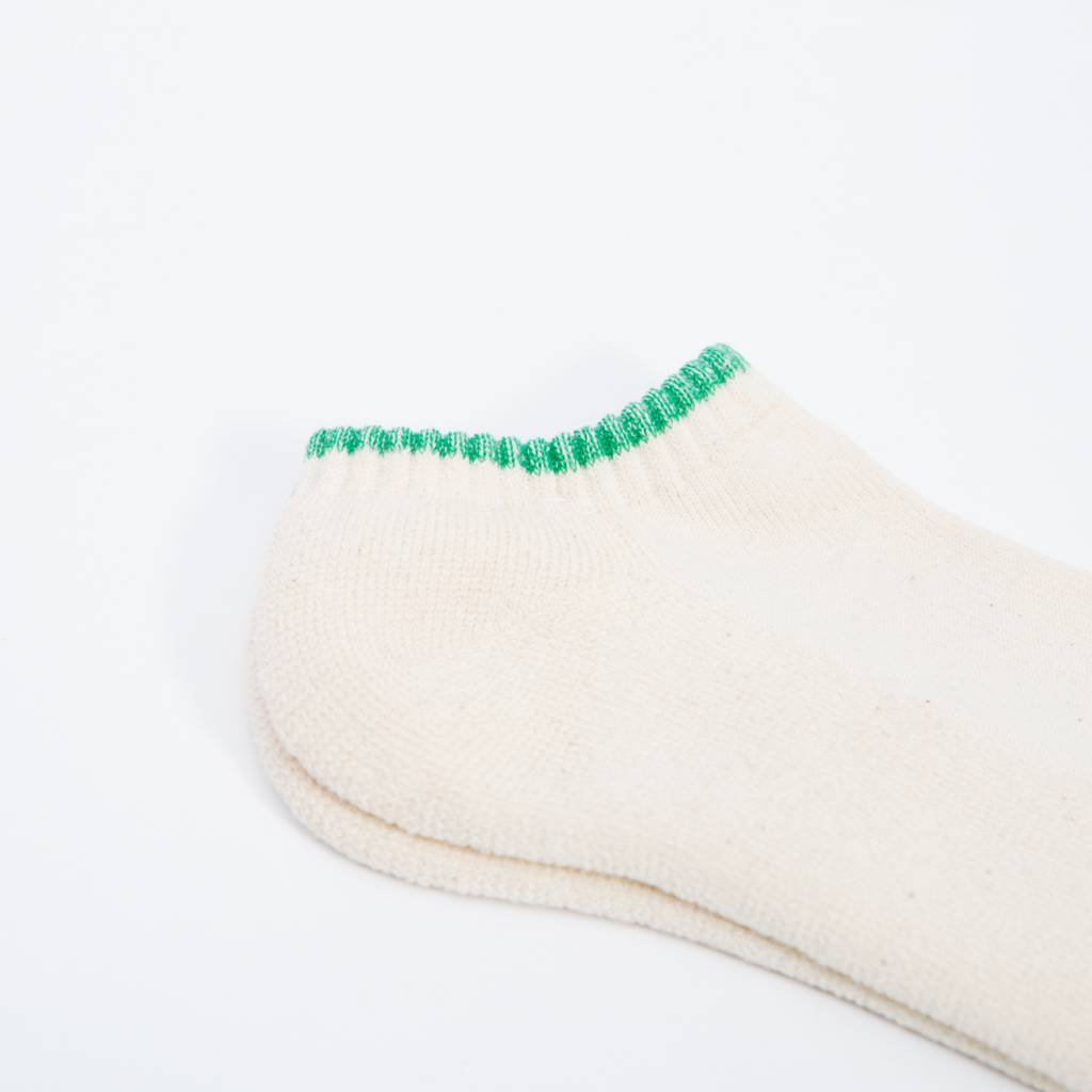 Anonymous Ism Organic Cotton Pile Ankle Socks, White