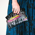 Lyell Floating Clouds Hand-Sequined Pouch