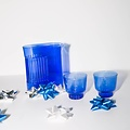 Areaware Ridge Kitchen Glasses, Set of 2, Cobalt