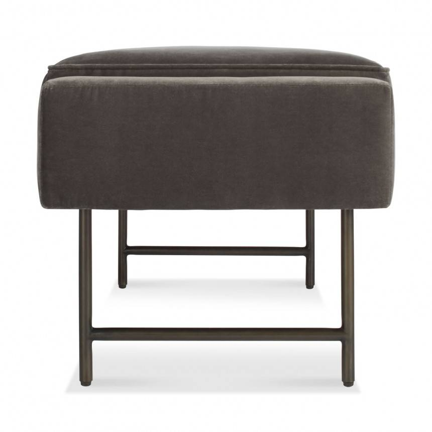Blu Dot Bank Mink Velvet Bench