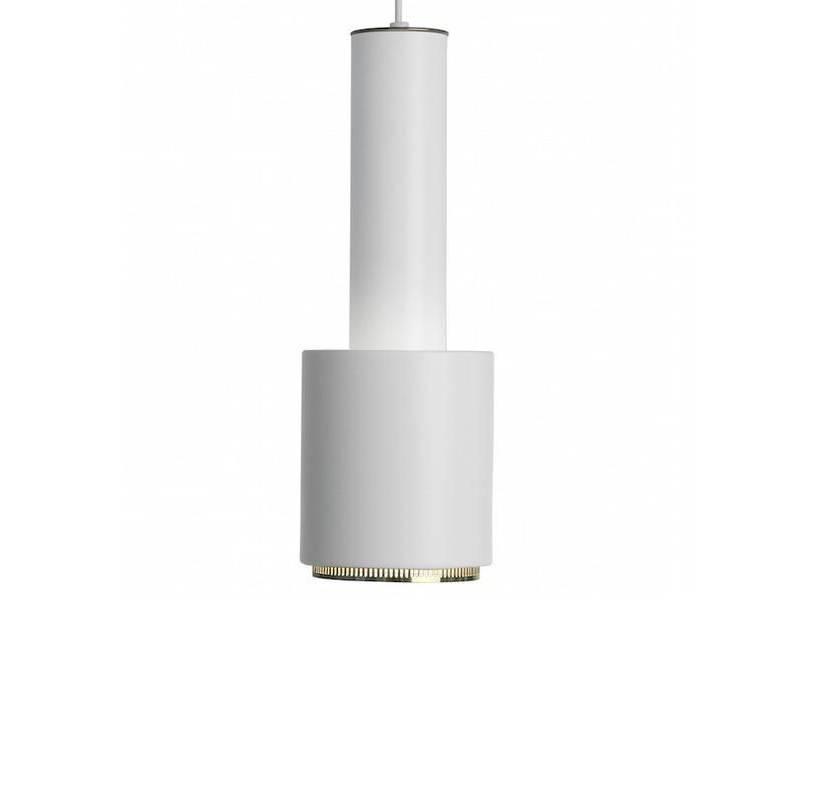 Artek A110 white/brass ring Pendant
