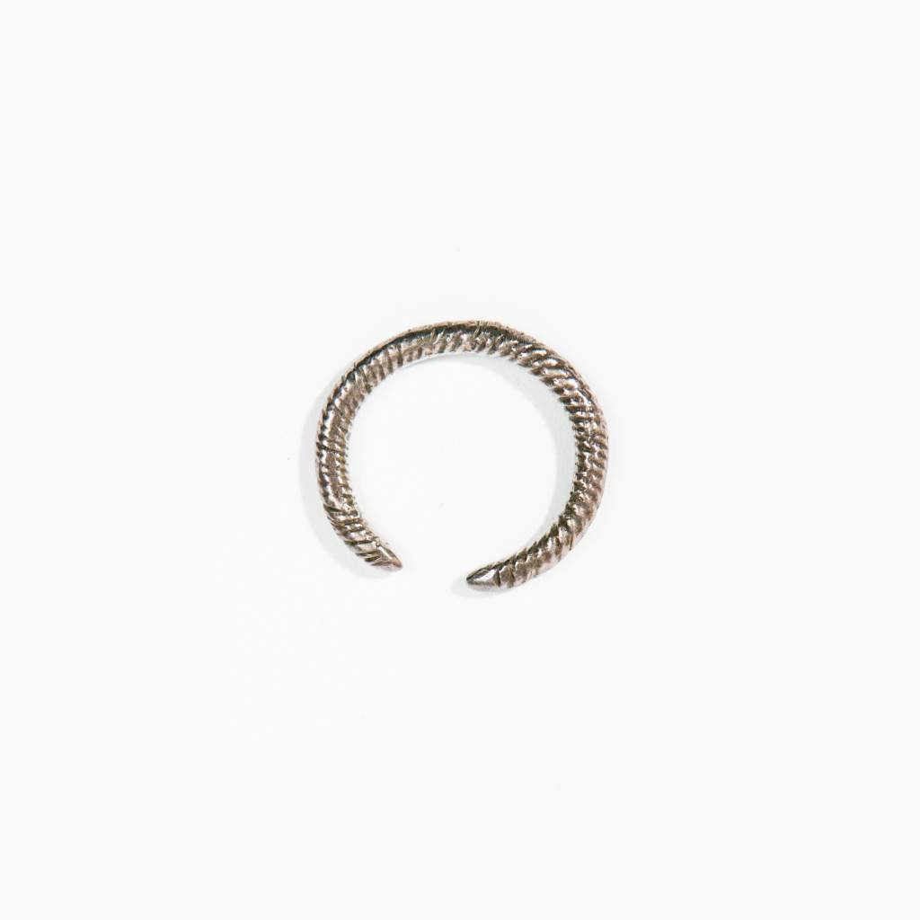 Suzannah Wainhouse Coiled Silver Cuff Ring, Silver