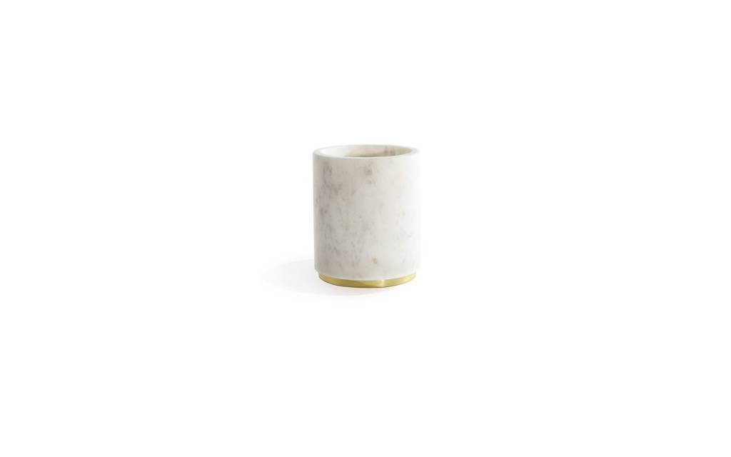 Hawkins NY Mara Marble + Brass Utility Canister