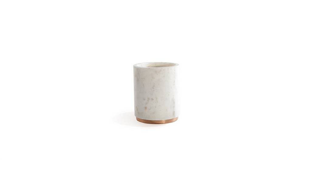 Hawkins NY Mara Marble + Copper Utility Canister
