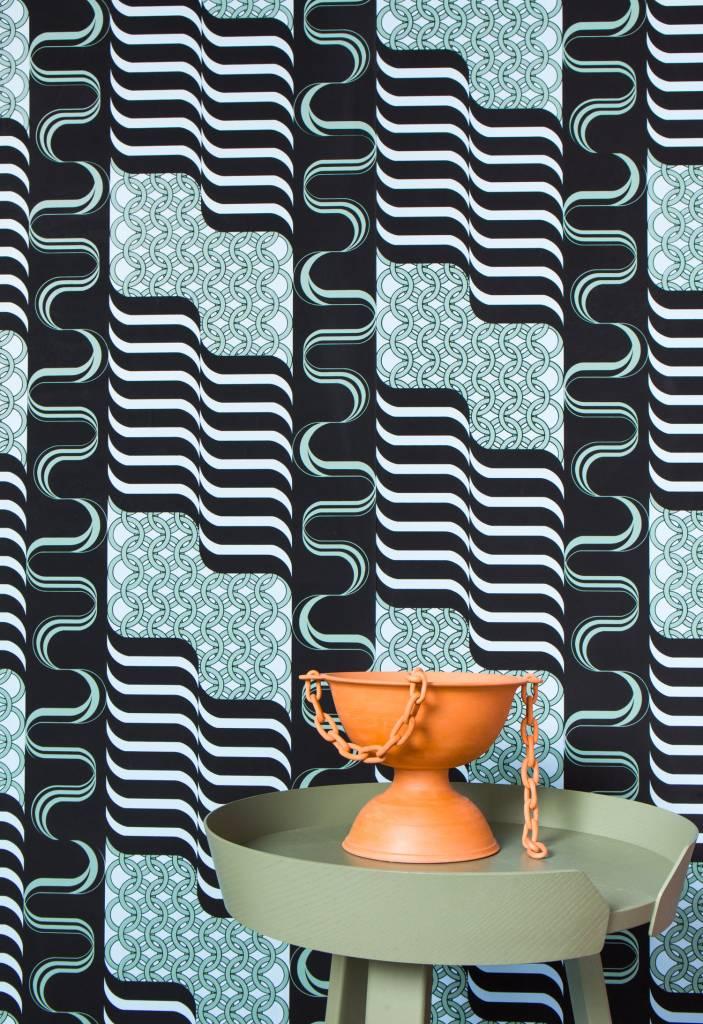 """New Hat Minerva Wallpaper (27"""" x 30 ft Roll) Greenback"""