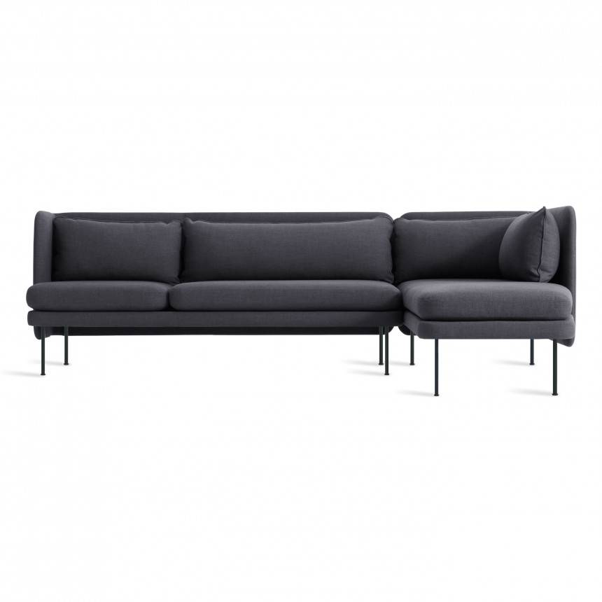 Blu Dot Bloke Sofa with Right Arm Chaise