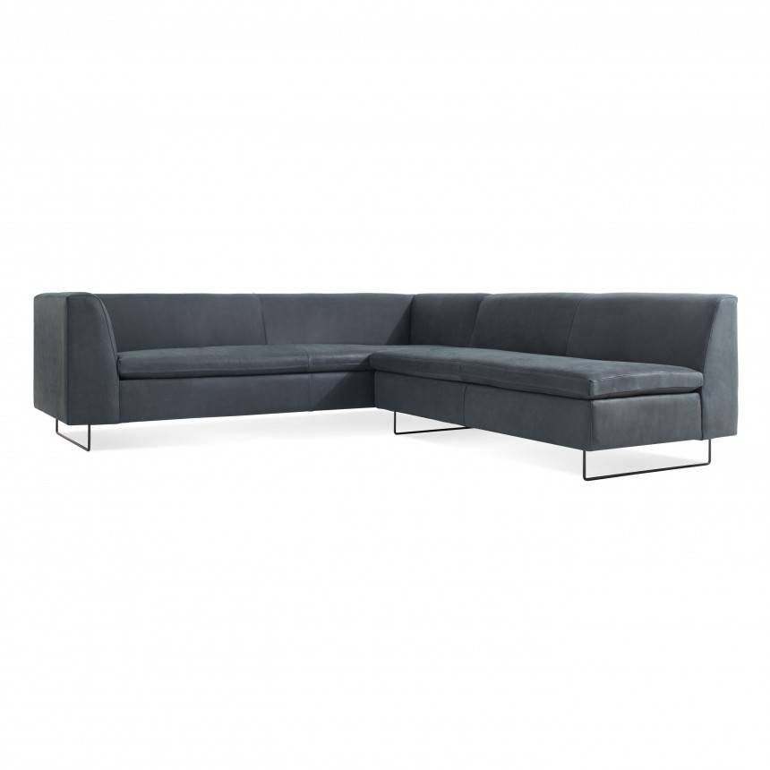Blu Dot Bonnie and Clyde Leather Sectional Sofa