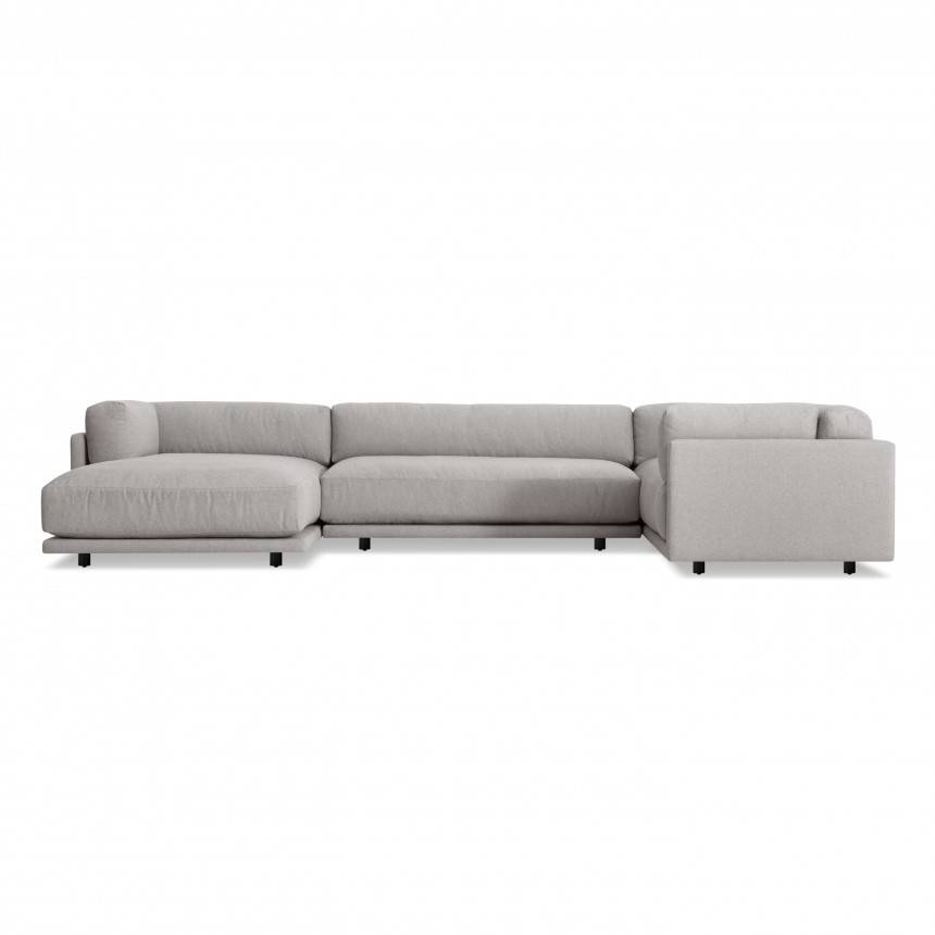 Blu Dot Sunday L Sectional Sofa w/ Left Arm Chaise