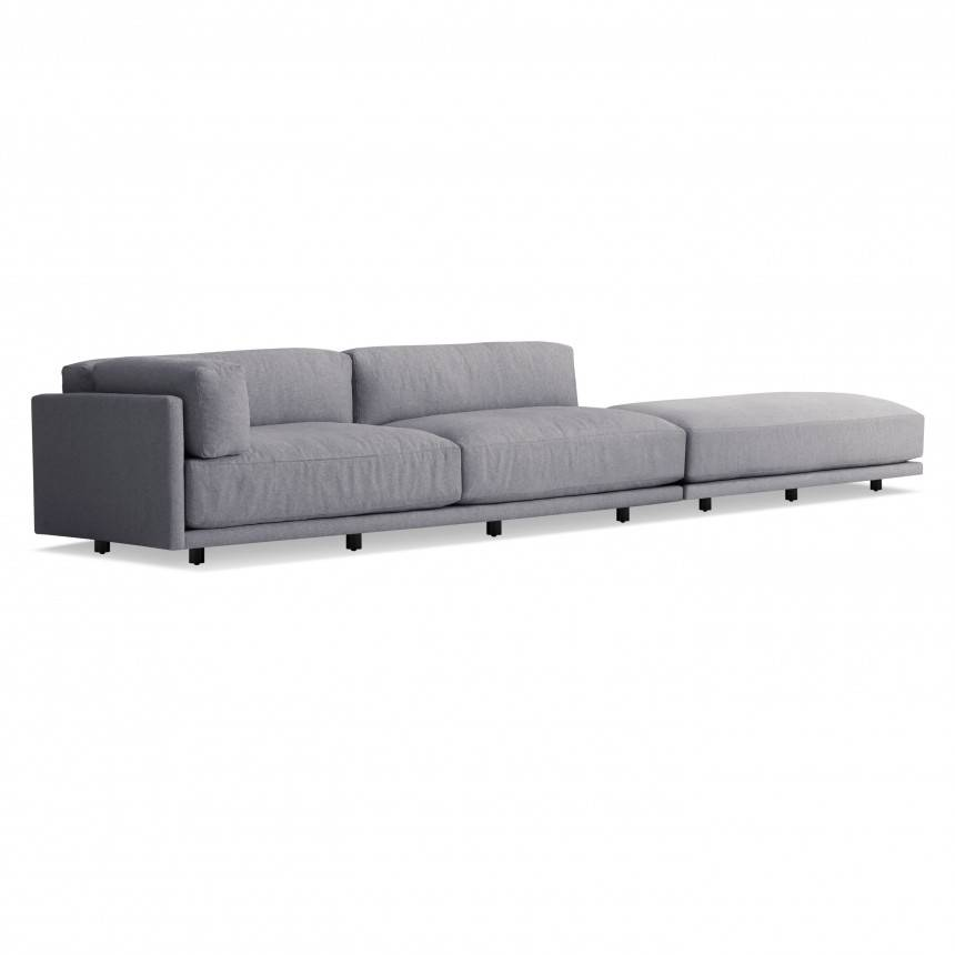 Superior Blu Dot Sunday Long And Low Sectional Sofa