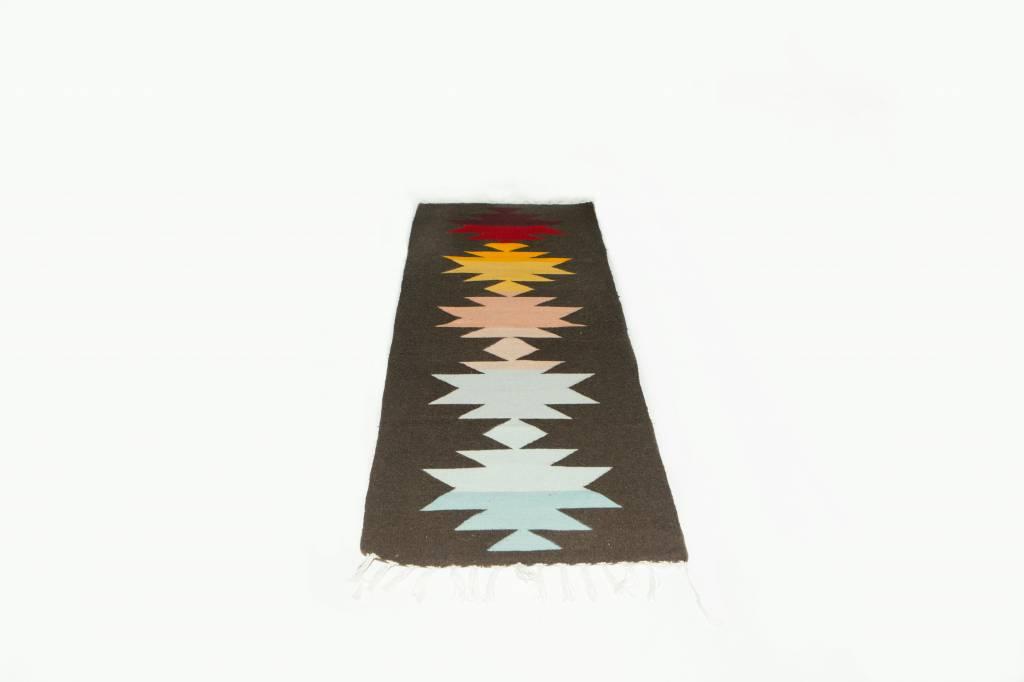 Evoke The Spirit Handwoven Runner Rug  Rainbow Shadow