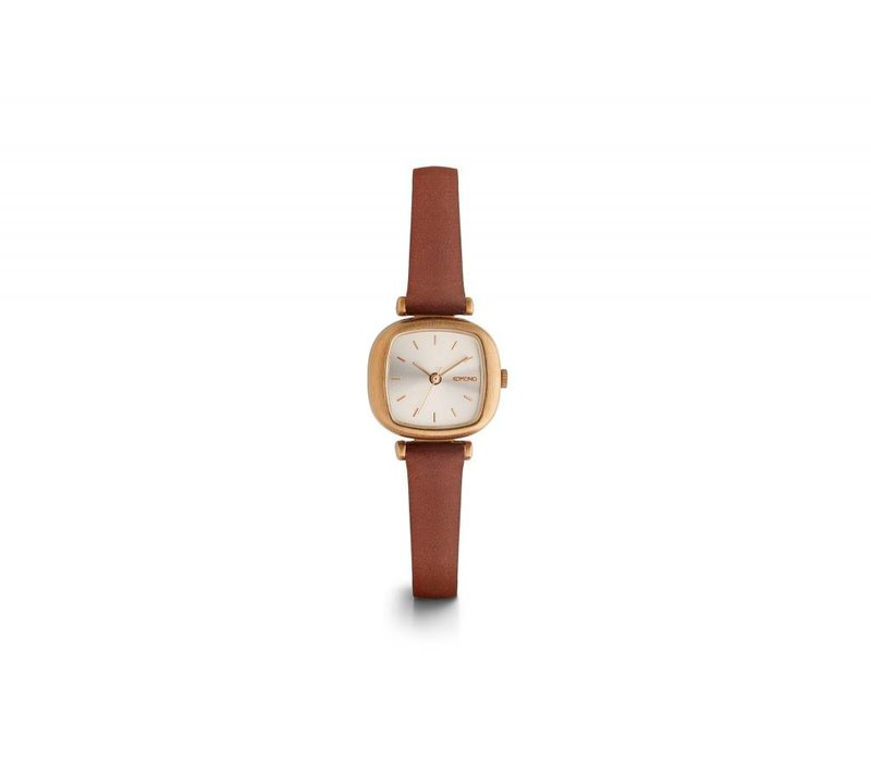 MONTRE MONEYPENNY - ROSE GOLD BROWN