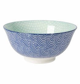 DANICA BOWL STAMPED BLUE WAVES/AQUA