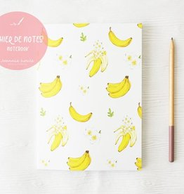 JOANNIE HOULE CAHIER DE NOTES- BANANES