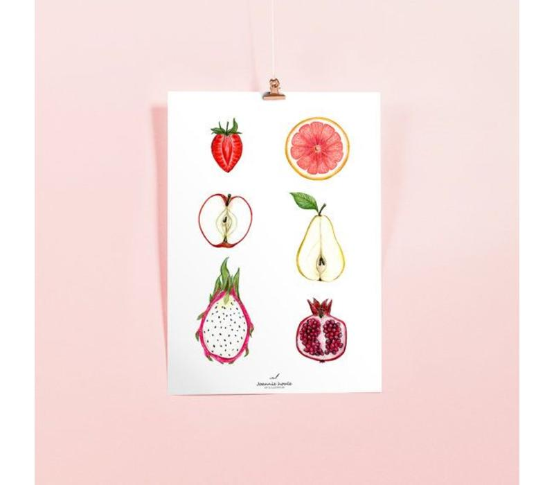 AFFICHE JOANNIE HOULE- FRUITS