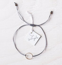 SI SIMPLE BRACELET MARILOU- GRIS/OR