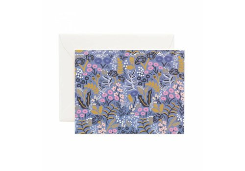RIFFLE PAPER CO. CARTE TAPESTRY COBALT