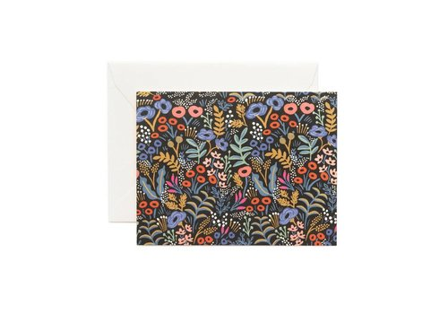RIFFLE PAPER CO. CARTE TAPESTRY NOIR