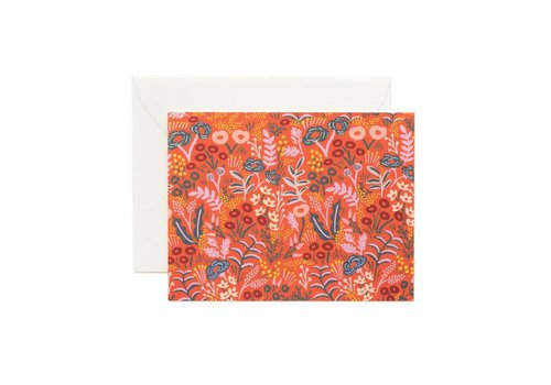 RIFFLE PAPER CO. CARTE TAPESTRY RED