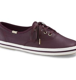 KEDS SOULIERS KATE SPADE LEATHER - DEEP CHERRY