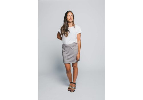 GENTLE FAWN JUPE SUEDE JETHRO - GRIS