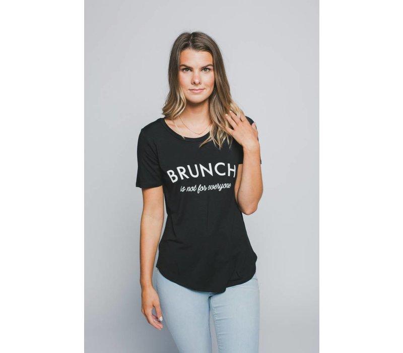 T-SHIRT BRUNCH- NOIR