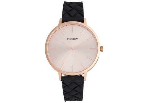 PILGRIM MONTRE ASTER- NOIR/ROSE GOLD