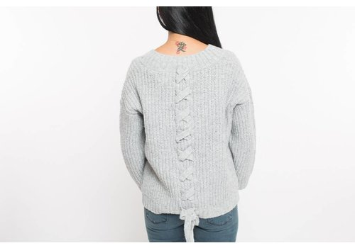 PRESS TRICOT LACE UP BACK