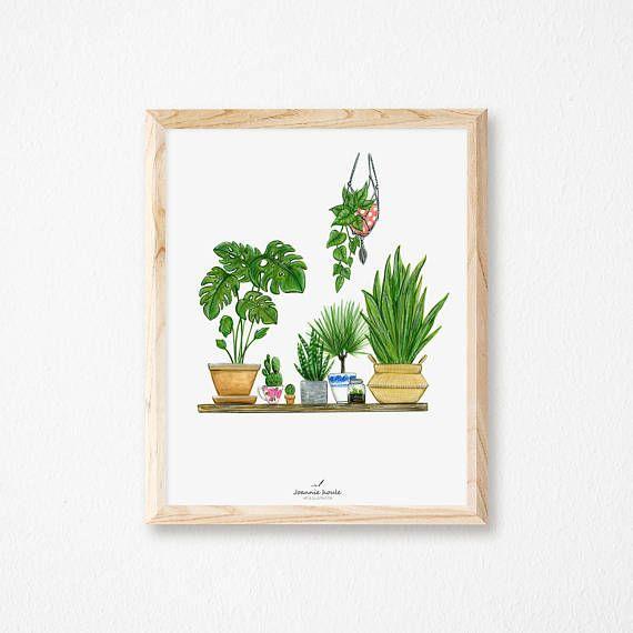 Joannie houle affiche 8x10 plantes vertes boutique la for Soldes plantes vertes
