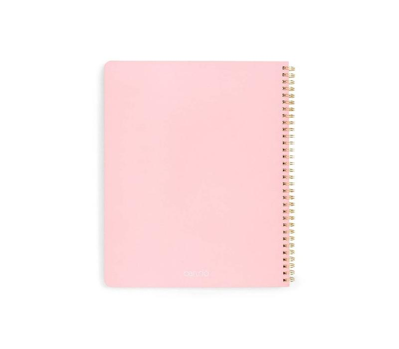 LARGE NOTEBOOK- VERY BUSY ROSE/ARGENT