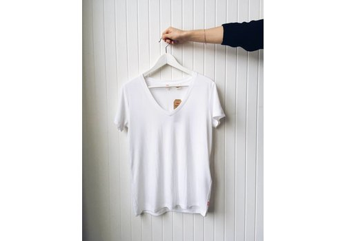 LEVIS T-SHIRT ESSENTIAL V NECK- BLANC