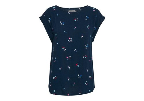 SOAKED IN LUXURY KAROLINE TOP- BLUES FLORAL
