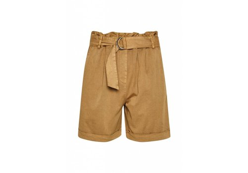 SOAKED IN LUXURY *DERNIÈRE CHANCE* SHORTS KAMILLE TAN- XSMALL