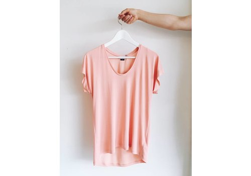 SOAKED IN LUXURY T-SHIRT SANNA- CORAIL