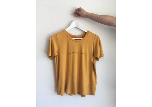 DAILYSTORY T-SHIRT NON MERCI- MOUTARDE