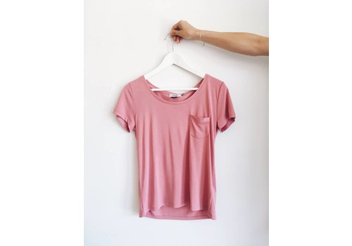 SOAKED IN LUXURY T-SHIRT COLUMBINE- APRICOT