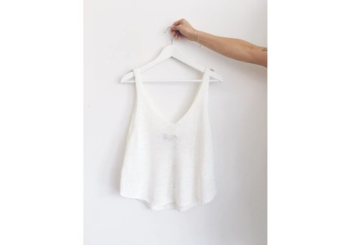 MINKPINK CAMISOLE FAR AWAY- IVOIRE